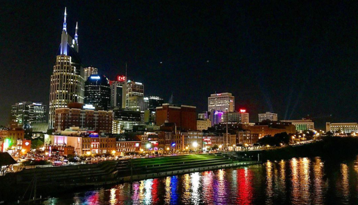 Downtown Nashville City Line View Of Guide To